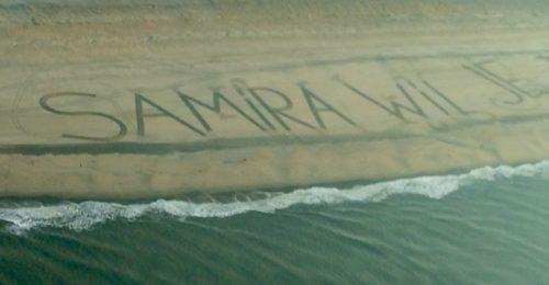 huwelijksaanzoek tekst op het strand - Lion Air