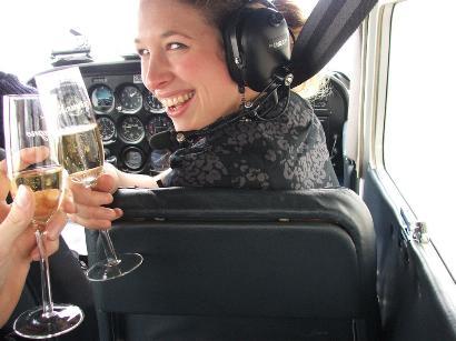 huwelijksaanzoek met Champagne aan boord - Lion Air