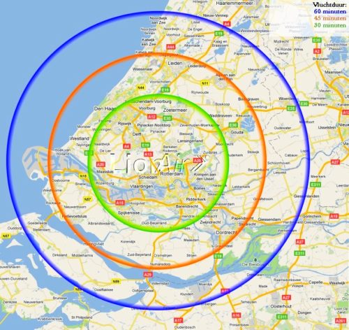 vliegbereik - bereik - reikwijdte vluchten - Lion Air