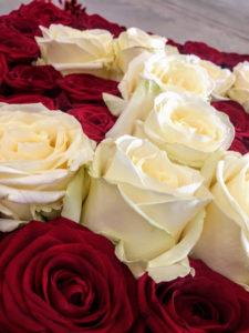 rozen in de vorm van een hart - Lion Air - huwelijksaanzoek