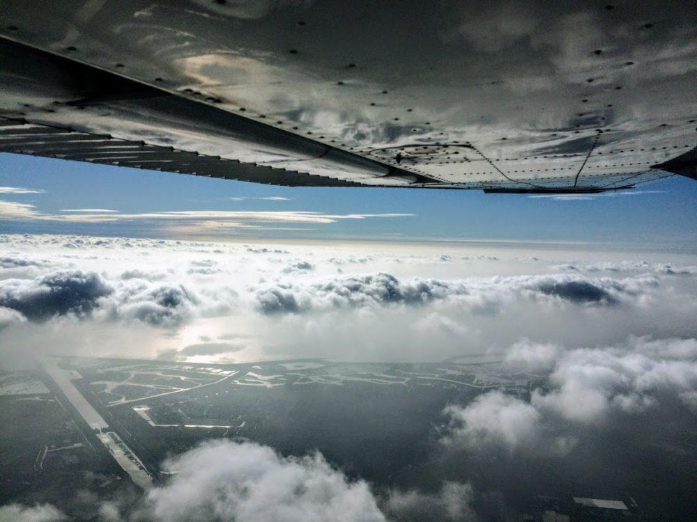 Weersomstandigheden - wolken - Lion Air